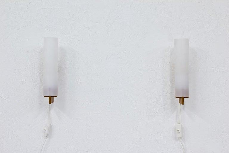 Scandinavian Modern Pair of Wall Lamps by Luxus, Sweden, 1960s