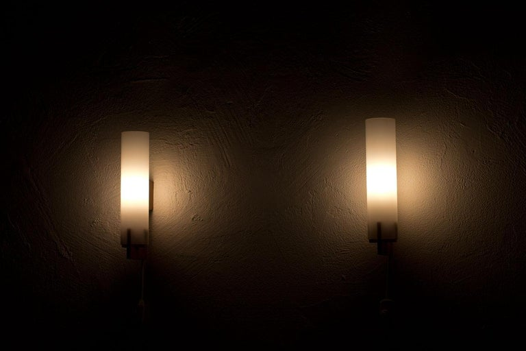 20th Century Pair of Wall Lamps by Luxus, Sweden, 1960s