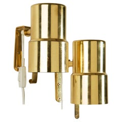 Pair of Wall Lamps Designed by Hans Agne Jakobsson, Sweden, 1960s
