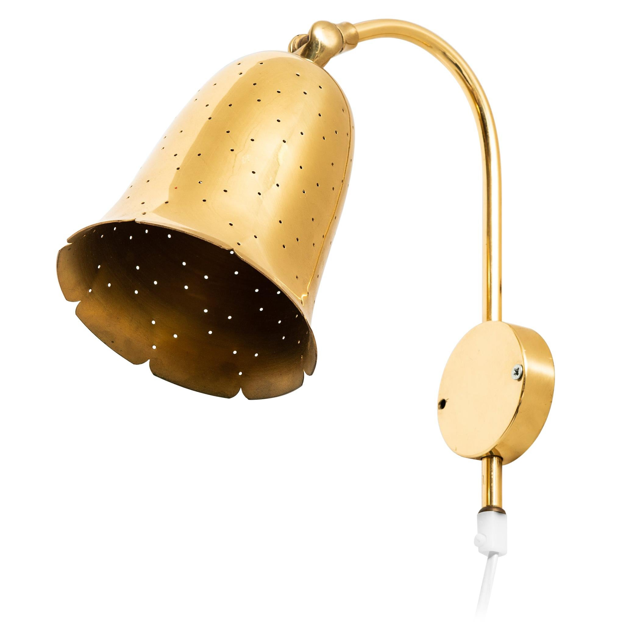 Pair of Wall Lamps in Brass Produced by Boréns in Sweden