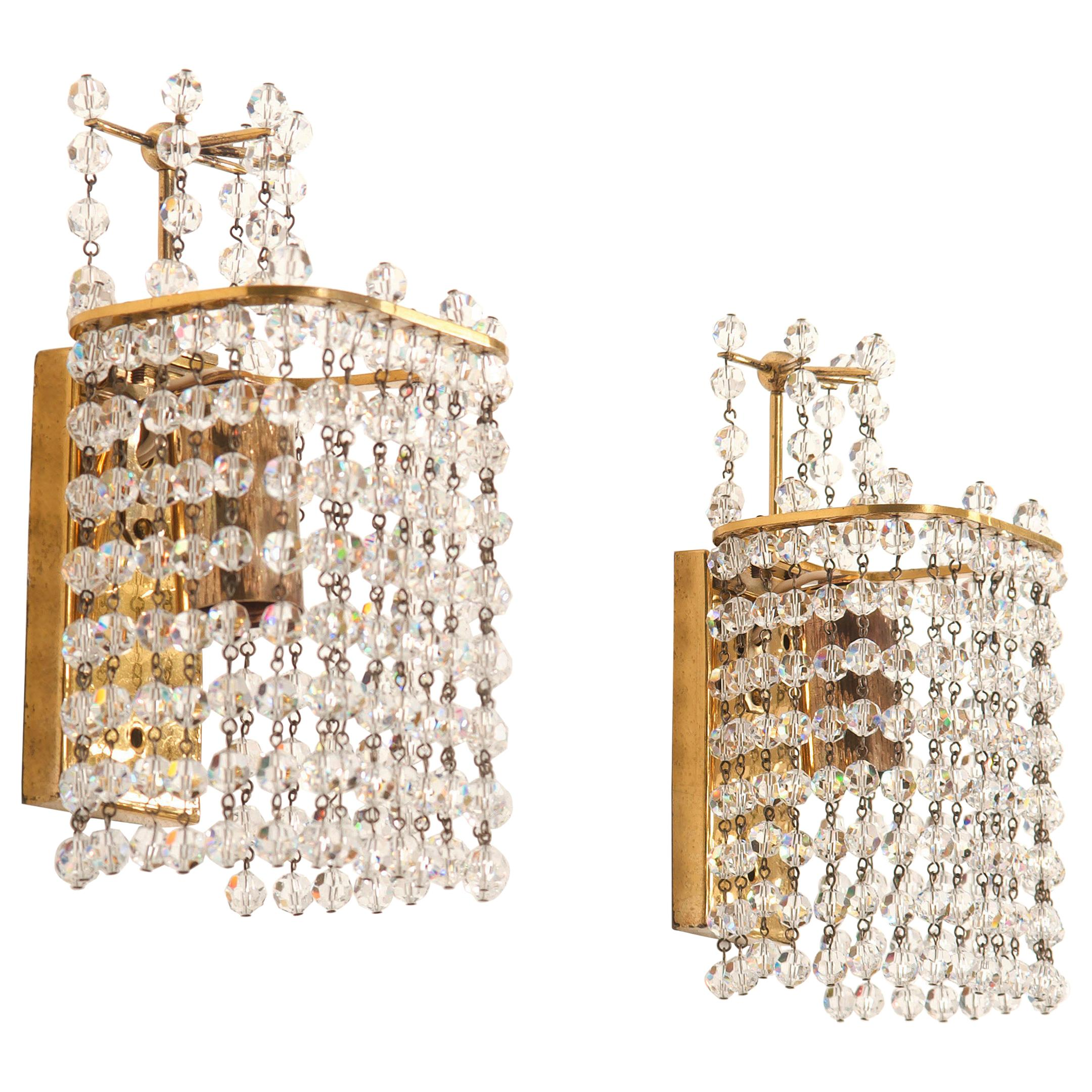 Pair of Wall Lamps Sconces for Lobmeyr