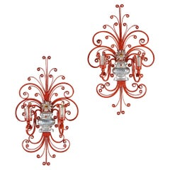 Pair of Wall Lights after Maison Bagues
