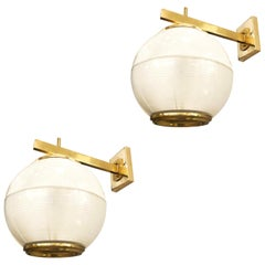 Pair of Wall Lights by Galassia, Italy, 1964