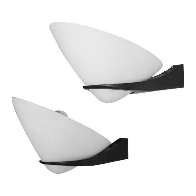 Pair of Wall Lights by Stilnovo Italian Design For Sale