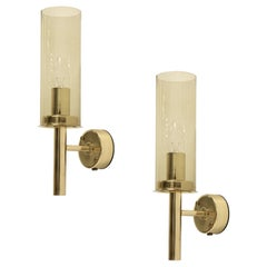 Pair of Wall Lights in Brass by Hans-Agne Jakobsson, 1960s