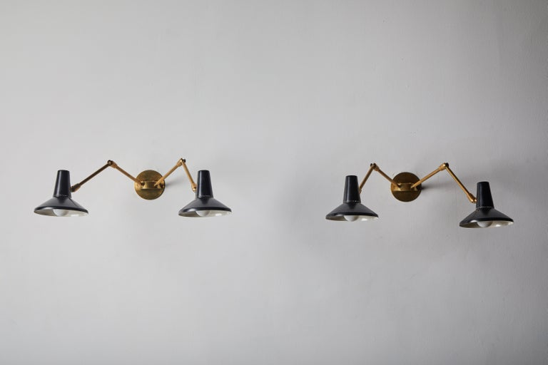 Pair of Wall Lights in the Style of Giuseppe Ostuni for O-Luce 2
