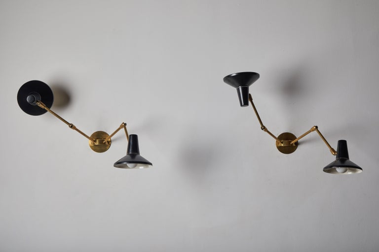 Pair of Wall Lights in the Style of Giuseppe Ostuni for O-Luce 3