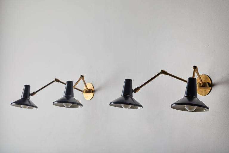 Pair of Wall Lights in the Style of Giuseppe Ostuni for O-Luce 4