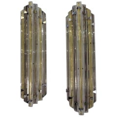 Pair of Wall Lights, Murano Glass, circa 1980