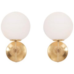 Pair of Wall Lights or Sconces by Max Bill for Temde Leuchten, Swiss, 1960s