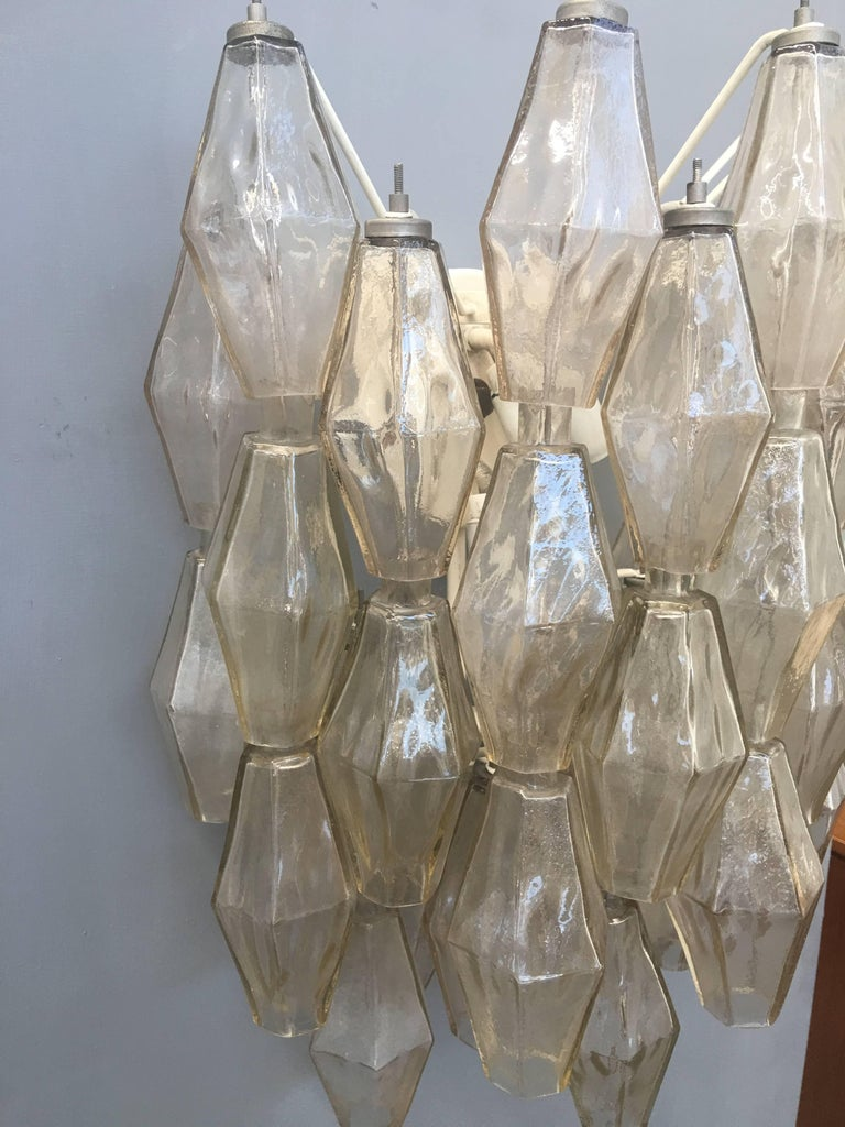 Mid-Century Modern Pair of Wall Lights Poliedri by Carlo Scarpa for Venini For Sale