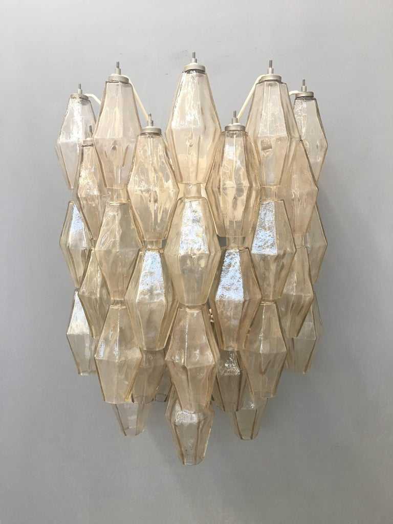 Pair of Wall Lights Poliedri by Carlo Scarpa for Venini For Sale 1