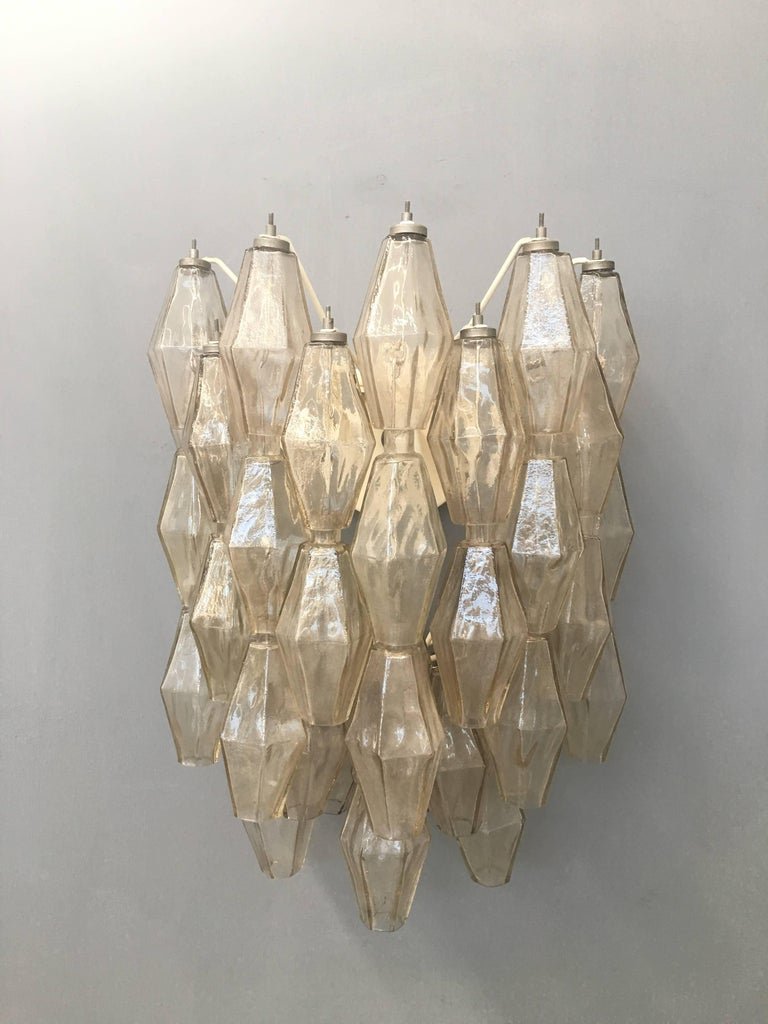 Pair of Wall Lights Poliedri by Carlo Scarpa for Venini For Sale 4