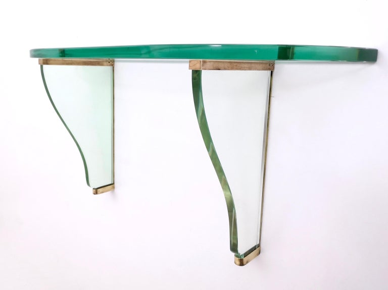 Pair of Wall-Mounted Consoles by Pietro Chiesa for Fontana Arte, Italy, 1940s For Sale 4