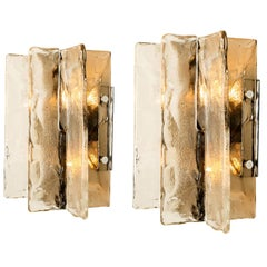 Pair of Wall Sconces, Carlo Nason, Mazzega, Murano