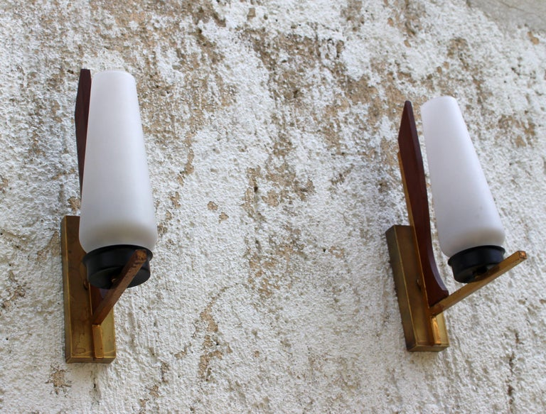 Pair of Wall Sconces from the 1950s In Good Condition In Los Angeles, CA