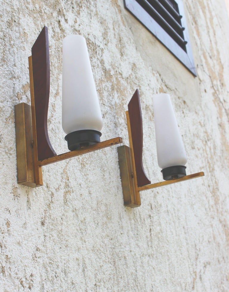 Mid-20th Century Pair of Wall Sconces from the 1950s