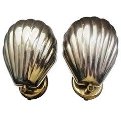 Pair of Wall Sconces  Shell, Art Nouveau, Art Deco