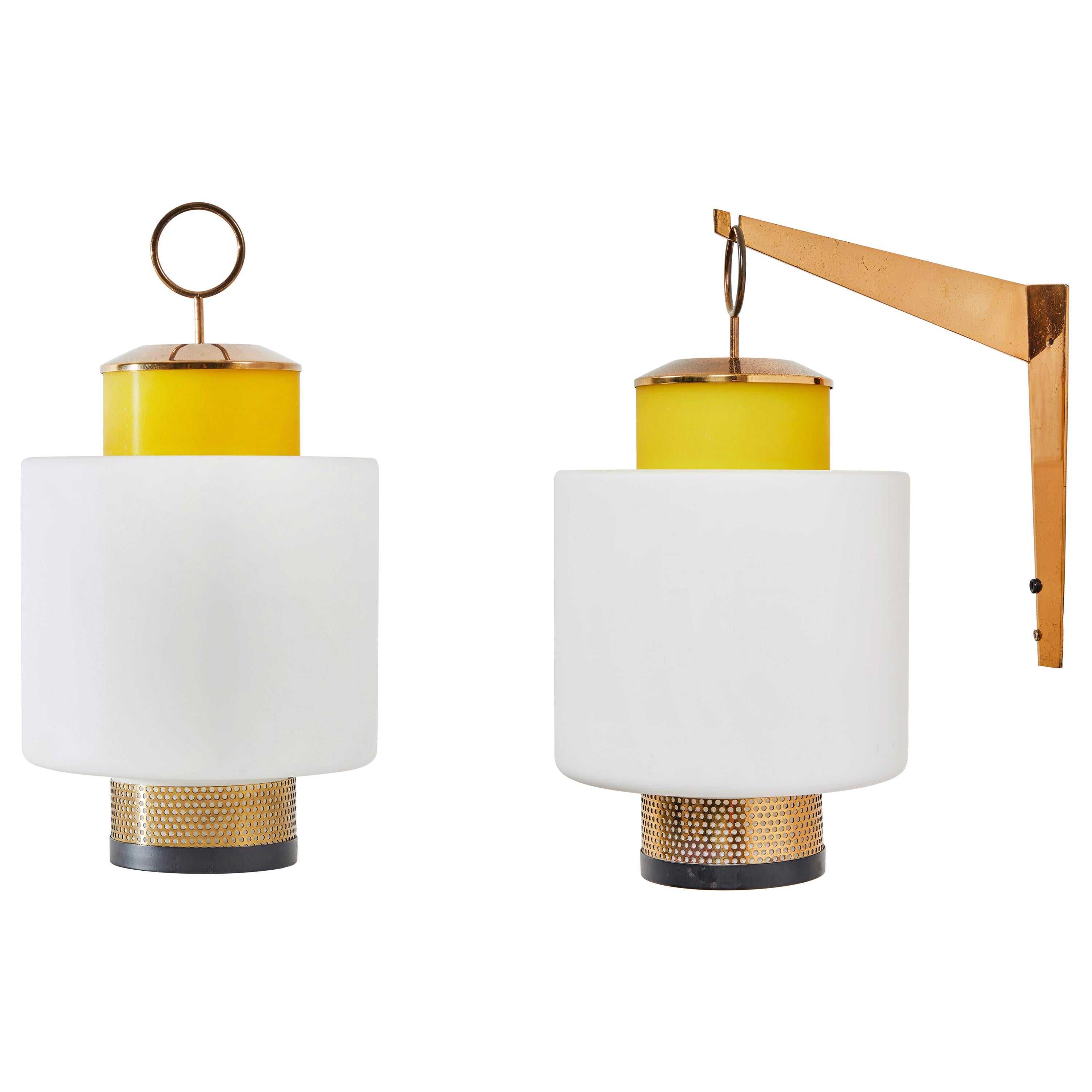 Pair of Wall/Table Lamps by Stilnovo