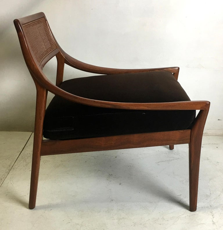 American Pair of Walnut Armchairs by Kipp Stewart for Directional For Sale