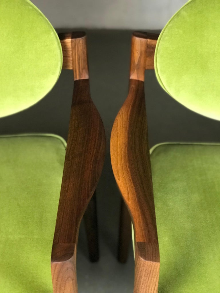 Pair of Walnut Armchairs Designed by Jens Risom, circa 1960s For Sale 7