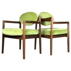 Pair of Walnut Armchairs Designed by Jens Risom, circa 1960s