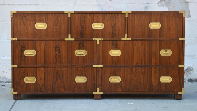Pair of Walnut Baker Chests of Drawers 6