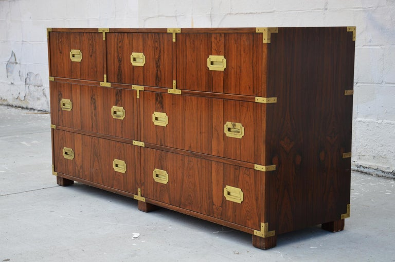 Mid-Century Modern Pair of Walnut Baker Chests of Drawers