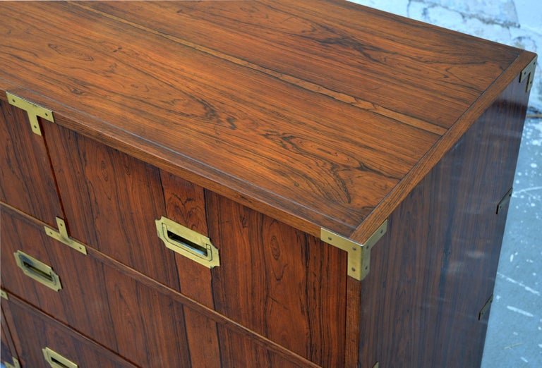 American Pair of Walnut Baker Chests of Drawers