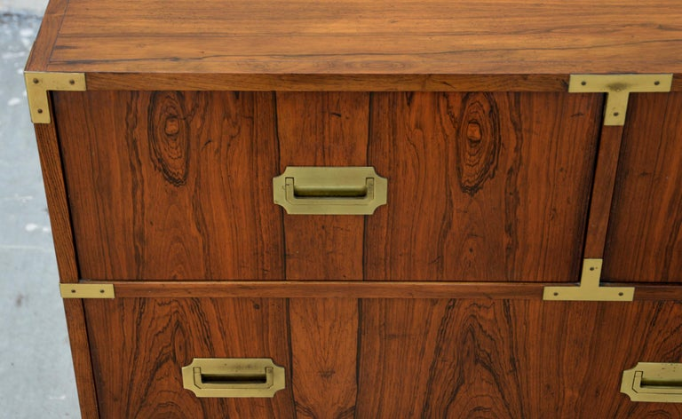 Pair of Walnut Baker Chests of Drawers In Excellent Condition In Los Angeles, CA