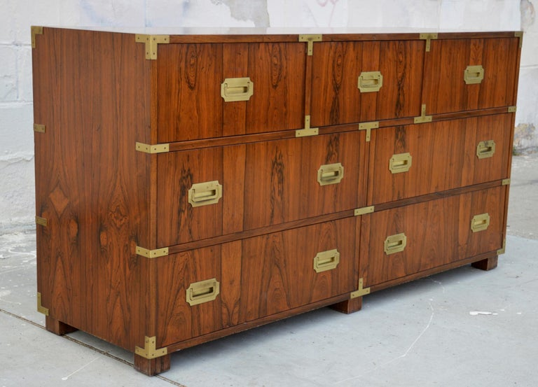 Mid-20th Century Pair of Walnut Baker Chests of Drawers