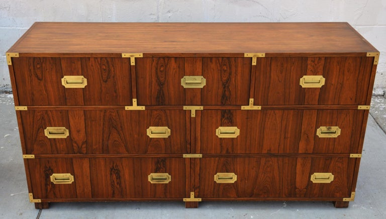 Pair of Walnut Baker Chests of Drawers 1