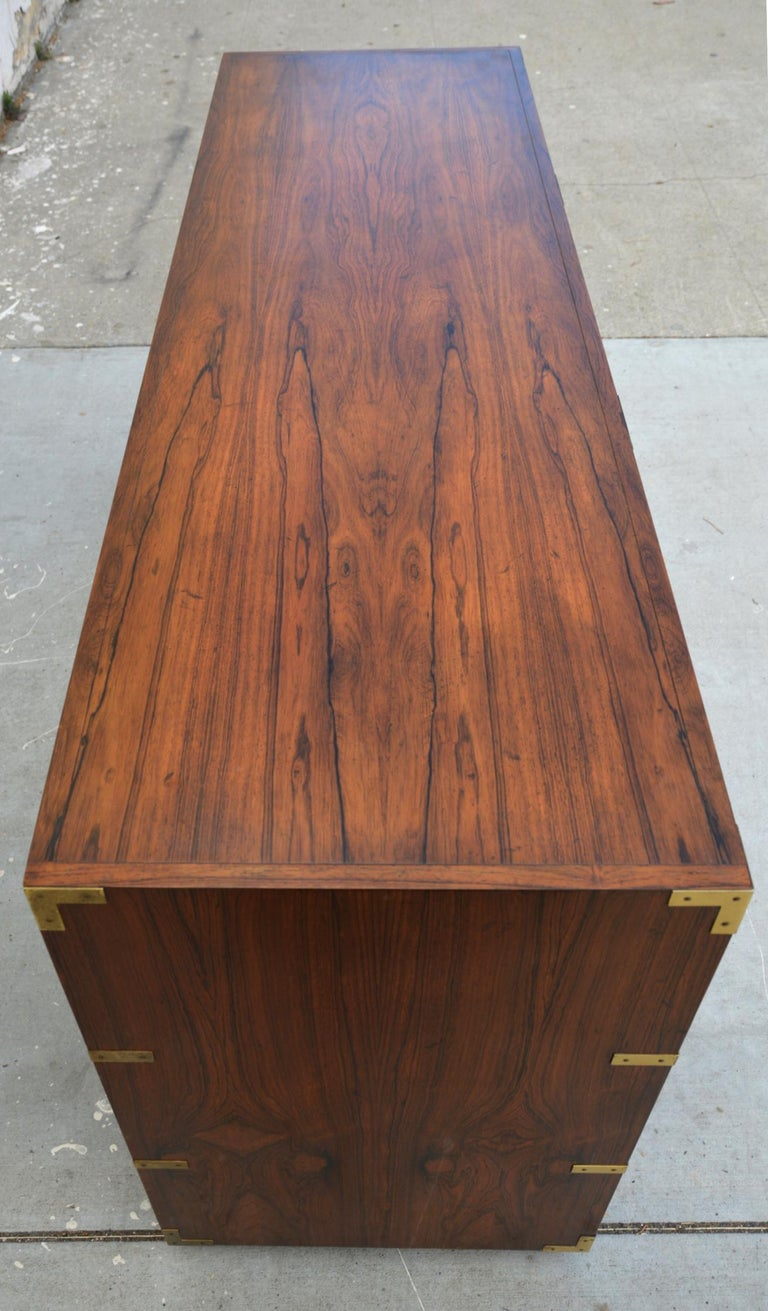 Pair of Walnut Baker Chests of Drawers 2