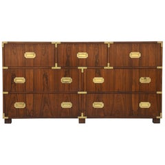 Pair of Walnut Baker Chests of Drawers