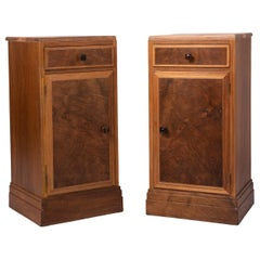 Pair of Walnut Bedside Tables by Heals of London, England, circa 1930