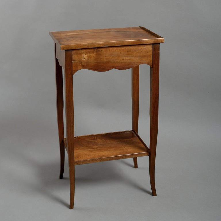 Pair of Walnut Bedside Tables in the Louis XV Manner In Good Condition For Sale In London, GB