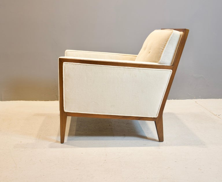 Upholstery Pair of Walnut Deco Style Lounge Chairs, 1970s For Sale