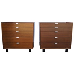 Pair of Walnut Dressers, Model 4620, by George Nelson for Herman Miller