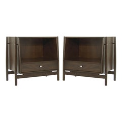 Pair of Walnut End Tables by Kipp Stewart, 1950s