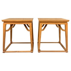 Pair of Walnut End Tables by Michael Taylor for Baker