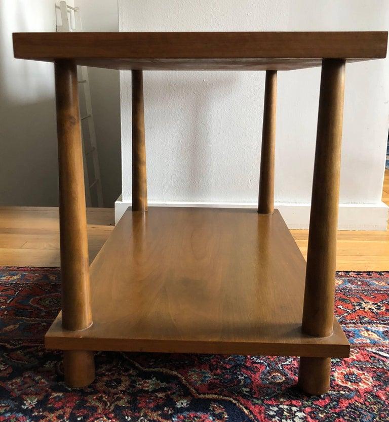 Mid-Century Modern Pair of Walnut End Tables by T.H. Robsjohn-Gibbings For Sale