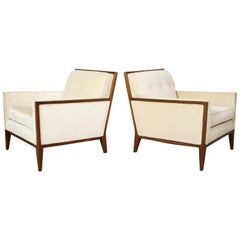 Pair of Walnut Lounge Chairs