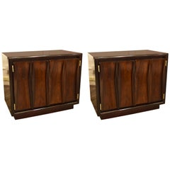 Pair of Walnut Midcentury End Tables