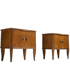 Pair of Walnut Nightstands by Tomaso Buzzi, 1940s