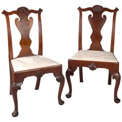 Pair of Walnut Philadelphia Chippendale Chairs