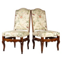 Pair of Walnut Provençal Chairs, 18th Century Period
