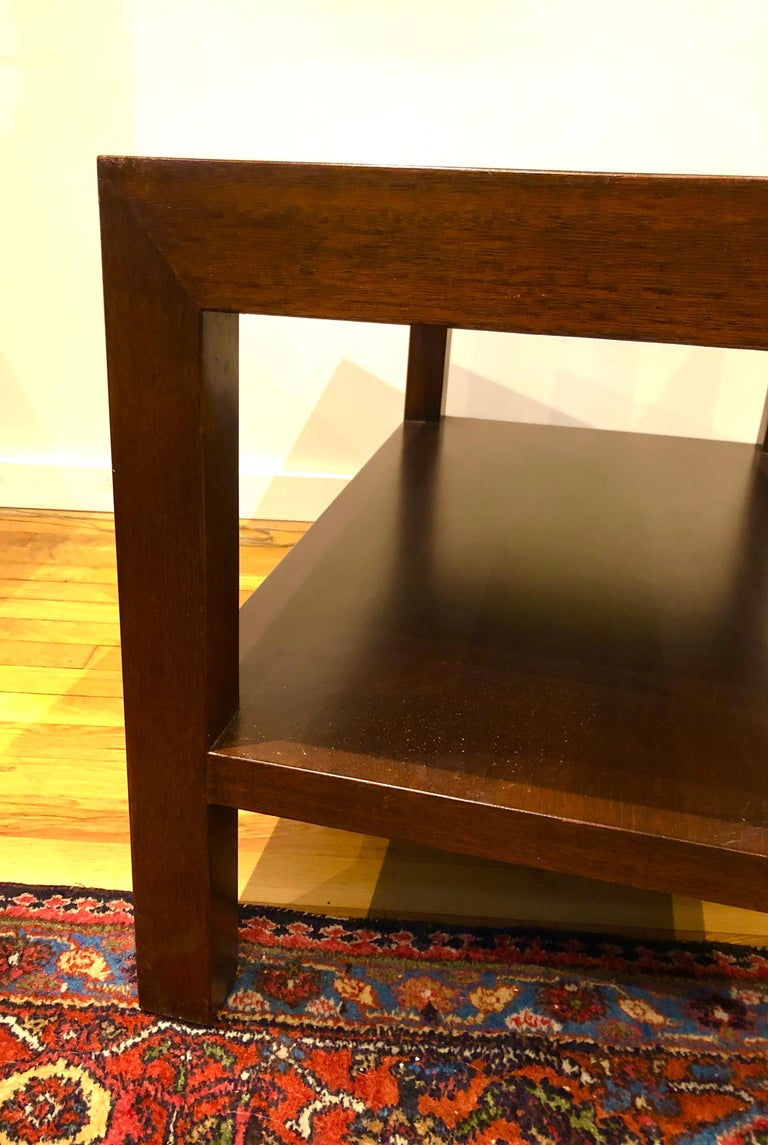 Pair of Walnut Side Tables by Dunbar For Sale 4