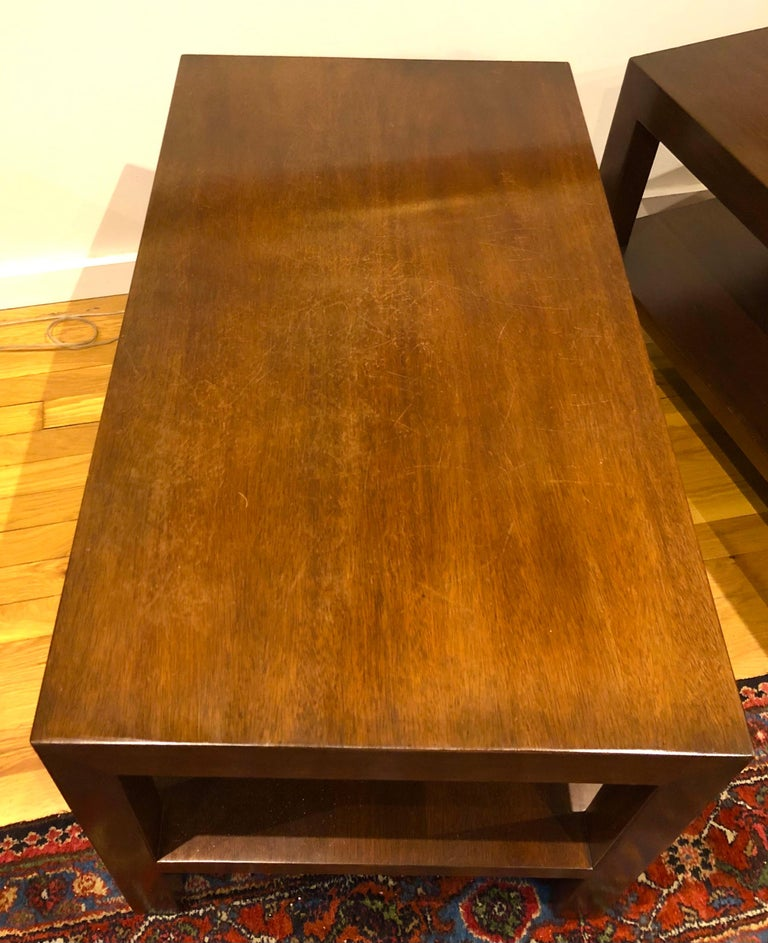 Pair of Walnut Side Tables by Dunbar For Sale 3