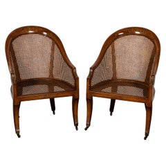 Pair of Walnut Spoon Back Chairs