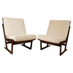 Pair of Walnut Stained Maple Chairs